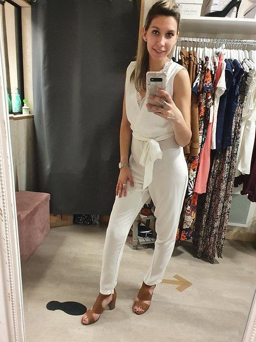 Combi-pantalon crème