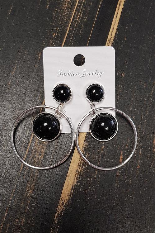 """Boucles d'oreilles """"noir"""""""