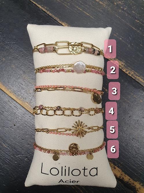 """Bracelet """"Salomé"""" rose"""