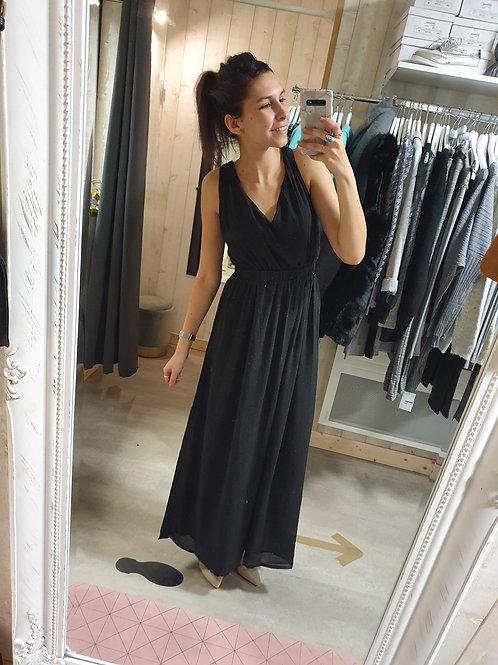 """Robe longue paillettée """"noir"""""""
