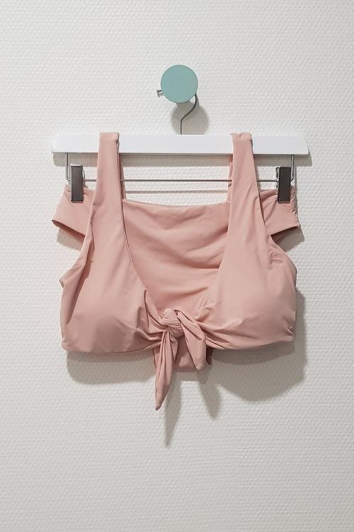 Maillot de bain 2 pièces croisé rose