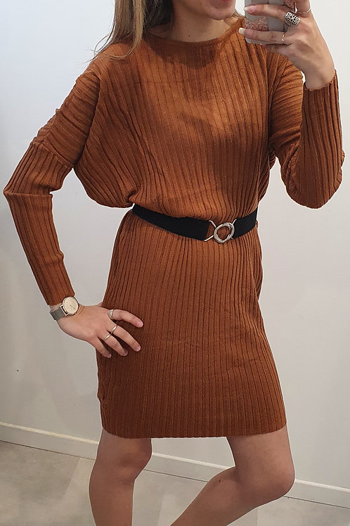 """Robe pull dos ouvert """"Terracotta"""""""