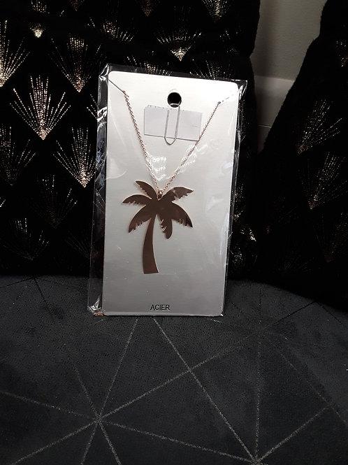 Collier long palmier Doré