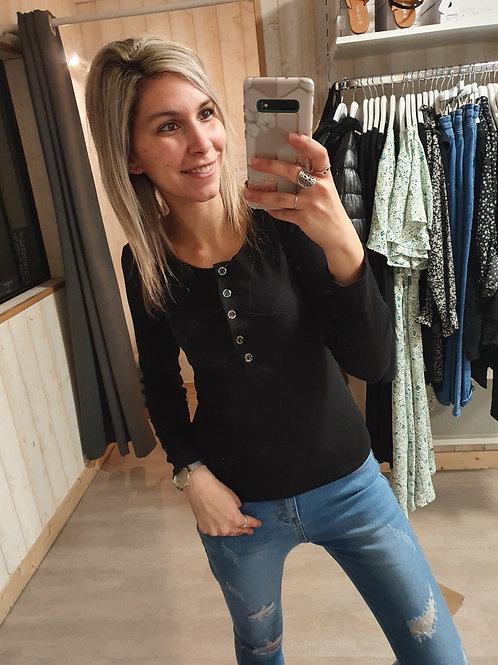 """Tee-shirt """"noir"""" Taille unique (34 au 40)"""