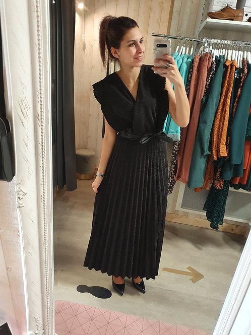 """Robe longue pailletée """" noir """""""