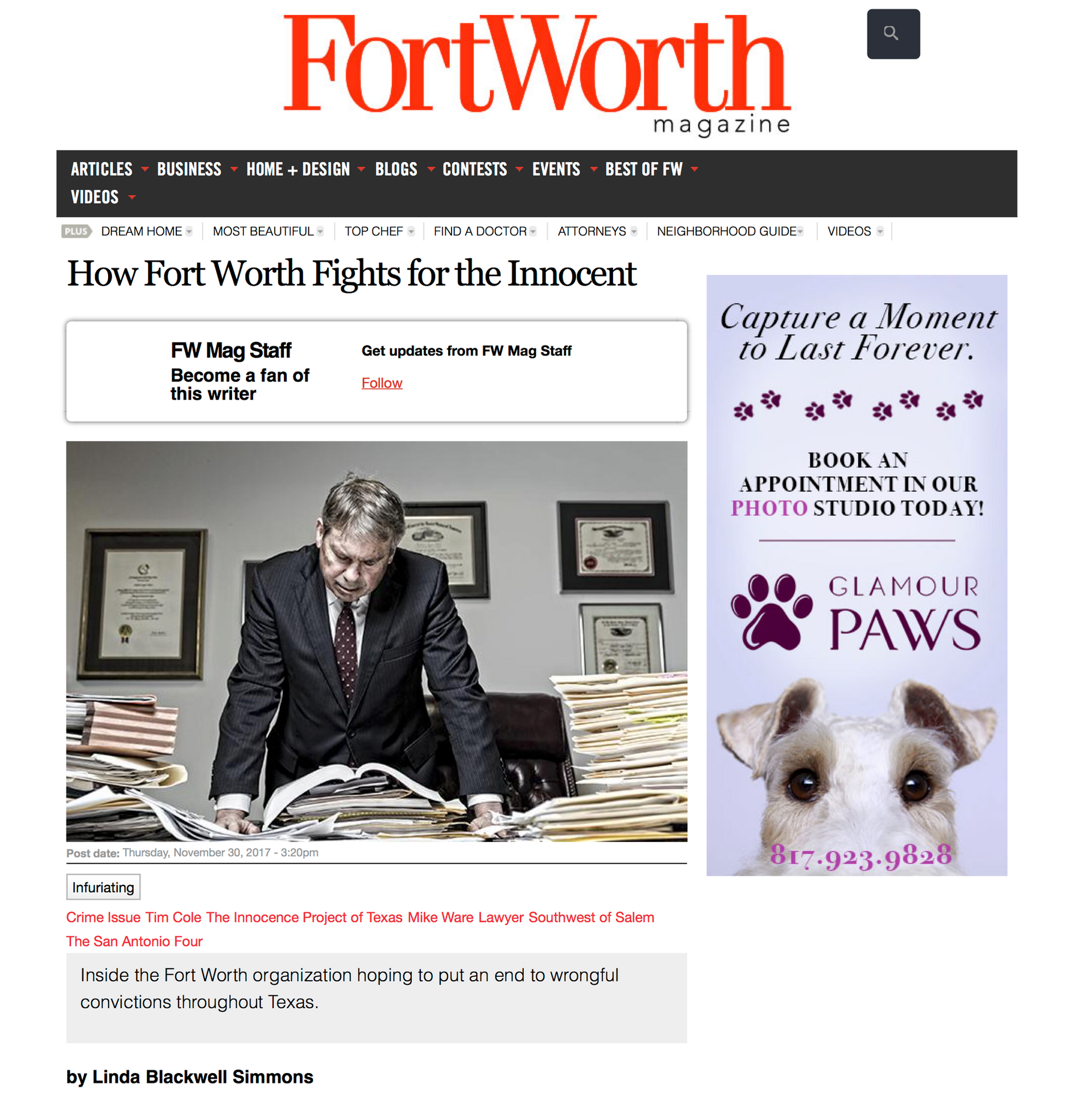 Fort Wort Magazine - Dec. 2017