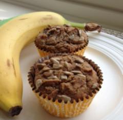 Banana Flax Crunch Muffins