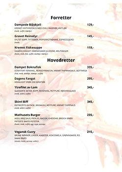 Høst og nye menyer på Restaurant Skirri