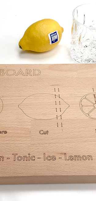 Gin & Tonic Board - Solid Beech
