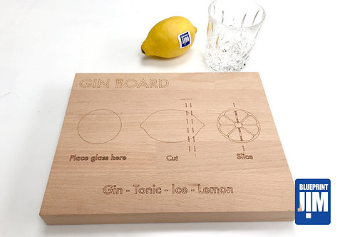 Gin & Tonic Board - Solid Beech