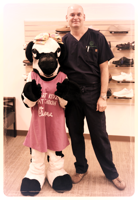 Dr. B with Cow