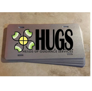 HUGS License Plate - $30