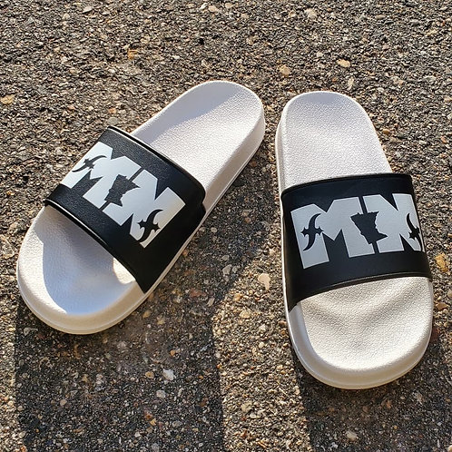 MN Slides White/Black