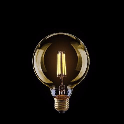 Ретро Лампа Эдисона G95 LED - золото