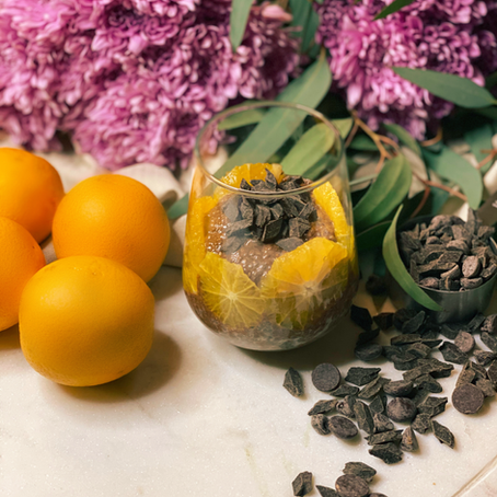 Chocolate & Orange Chia Seed Pudding