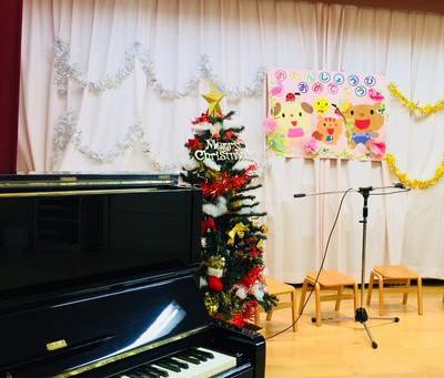 つくし保育園のクリスマス会にて