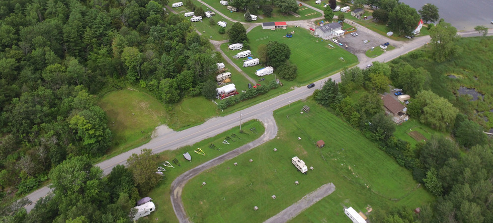 sky view of campground