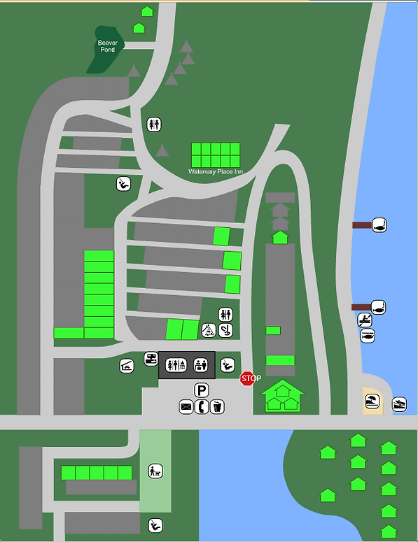 campsite map with Lazy acre