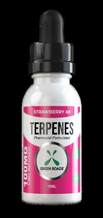 CBD Oil + Terpene Blend 100mg - Strawberry AK