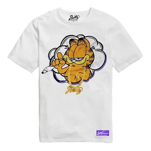 Baked Cat T-Shirt By Runtz -White