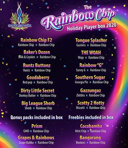 "Exotic Genetix  ""Rainbow Chip"" Players Box"
