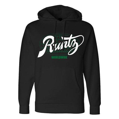 All Country Hoodie by Runtz - Black & Green