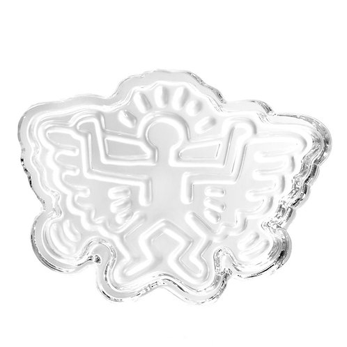Angel Wings Crystal Glass Ashtray / Catchall by Keith Haring