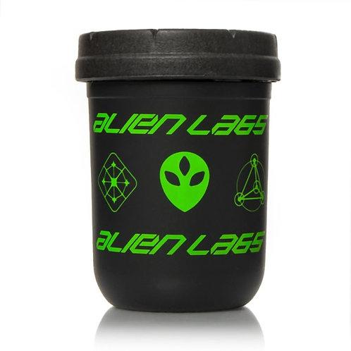Black & Green 8oz AlienLabs Mason Stash Jar by RE:STASH