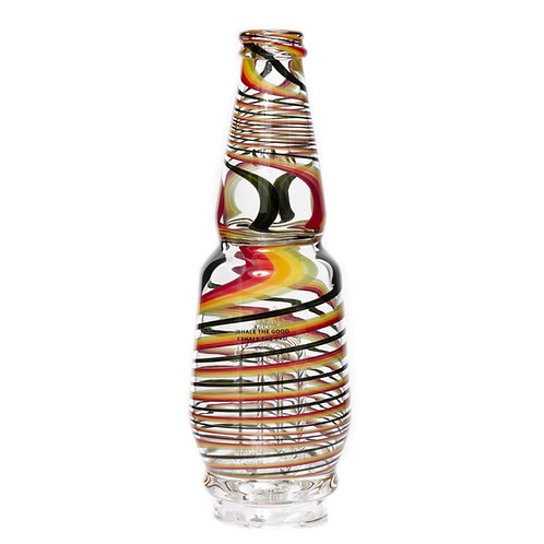 Rasta Striped Peak Glass by Idab Glass