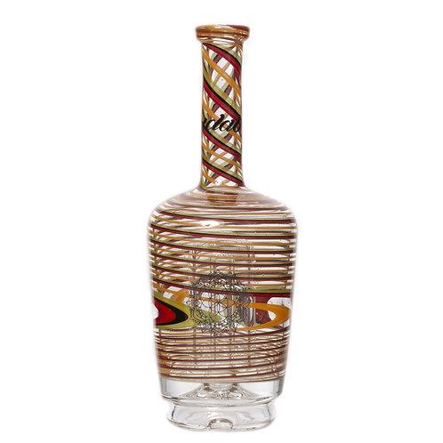 Striped Rasta Custom Henny Bottle Peak Glass by Idab Glass
