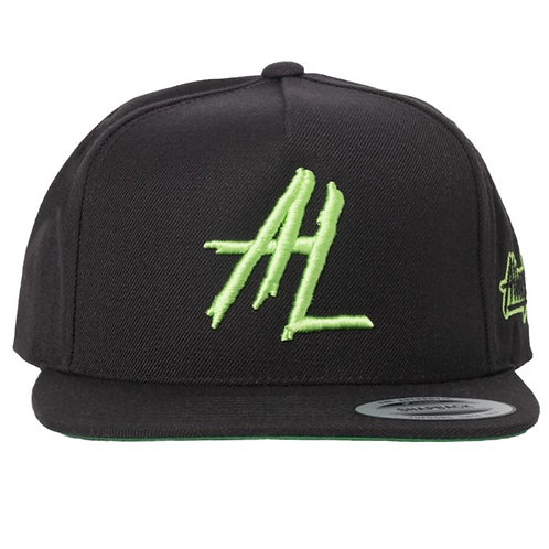 5 Panel Embroidered Snapback Hat by Alien Labs