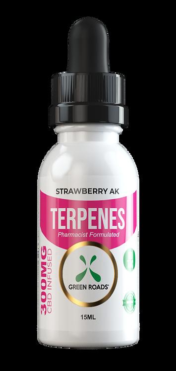 CBD Oil + Terpene Blend 300mg - Strawberry AK