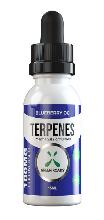 CBD Oil + Terpene Blend 100mg - Blueberry OG
