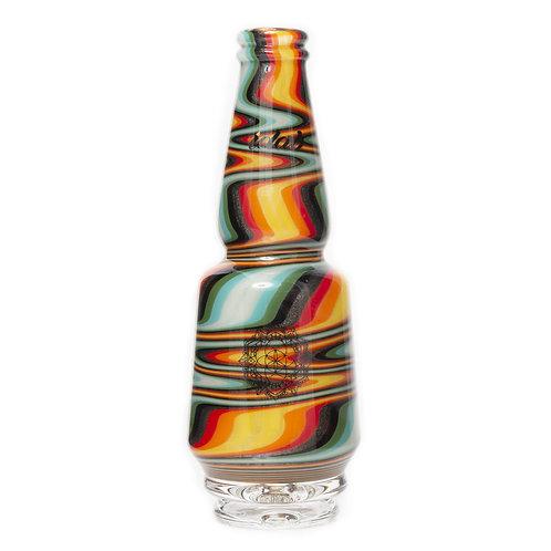 Fire Zigzag Worked Peak Glass by Idab Glass