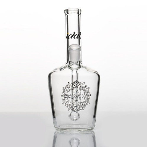 Clear Medium Bottle Rig 14mm Female Joint by iDab Glass