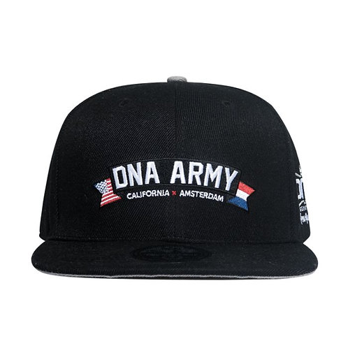 Custom 6 Panel Snapback Hat - DNA Army by DNA Genetics