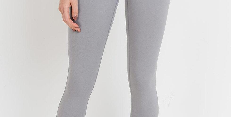 Ace Row leggings - Light Grey - Front Logo