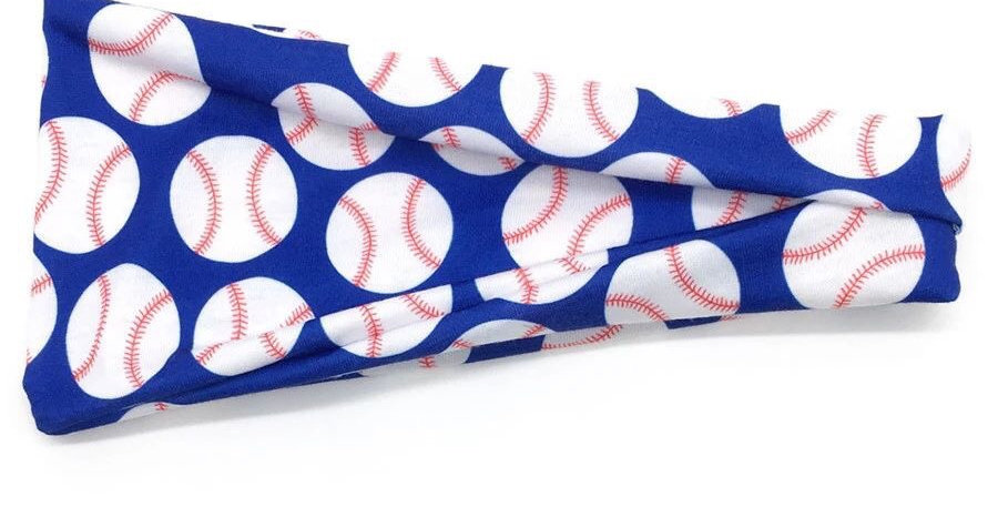 Baseball print blue