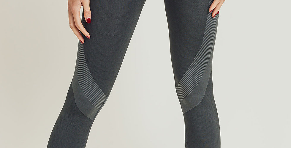 Ace Charcoal Highwaist Patterned Seamless Leggings