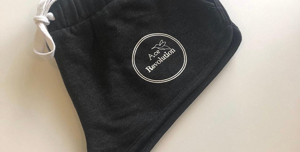 Black booty sweat shorts