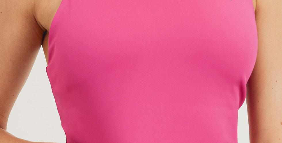 Ace Hot Pink Lycra-blend Razor Crop