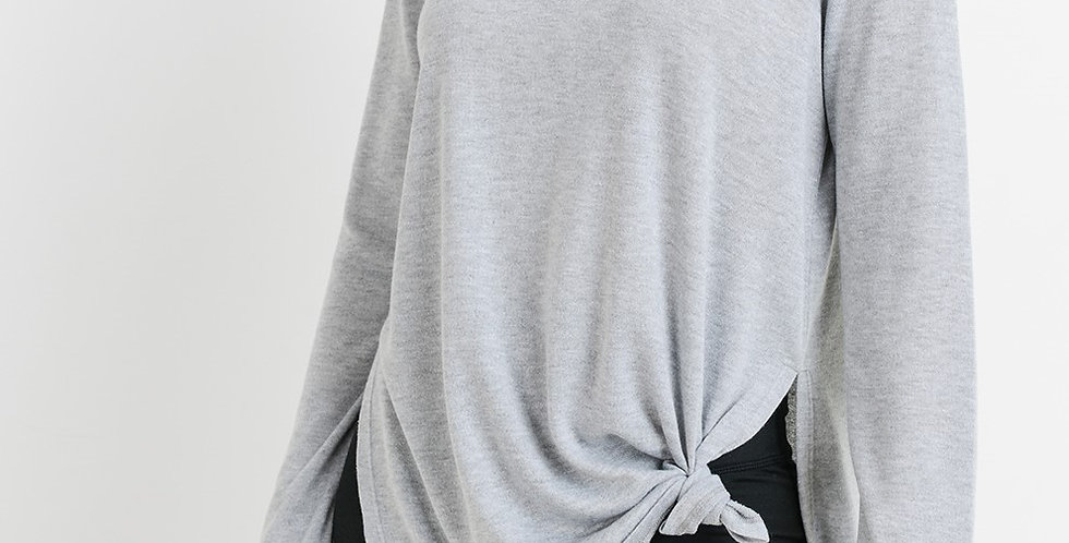 Ace Heather Grey Long Sleeve Top