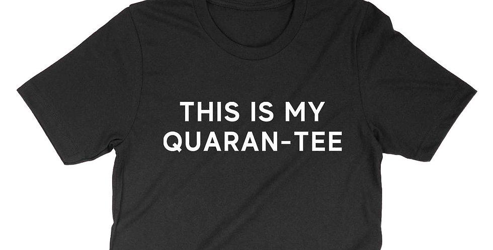 THIS IS MY QUARAN-TEE GRAPHIC CROP TEE-BLACK