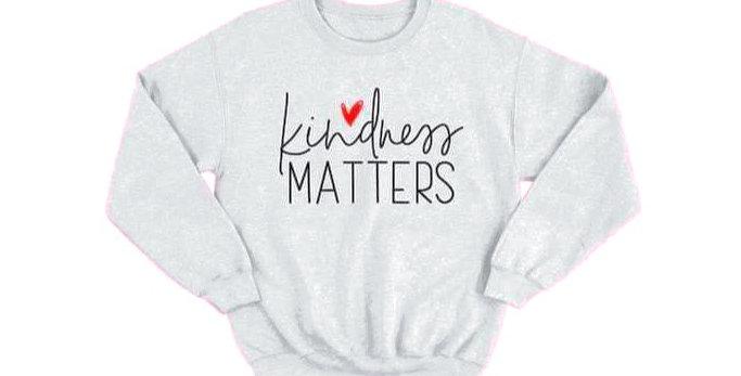 "Heathe Gray ""Kindness Matters"" sweater"