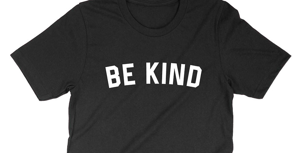 BE KIND CROP TEE-BLACK