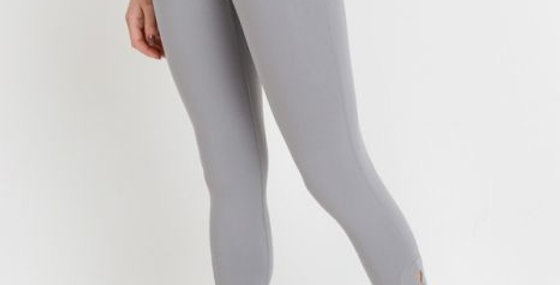 Ace Row leggings - Light Grey - Back Logo