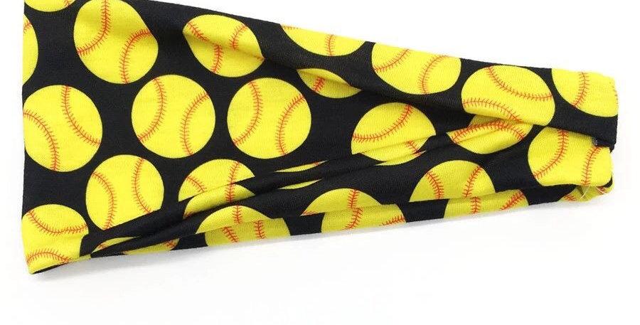 Baseball print black