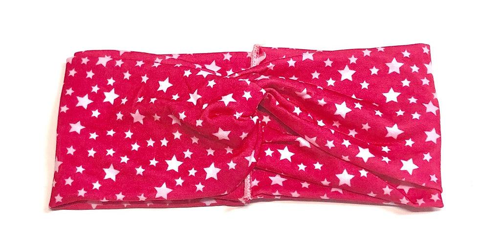 Hot Pink Background White Stars