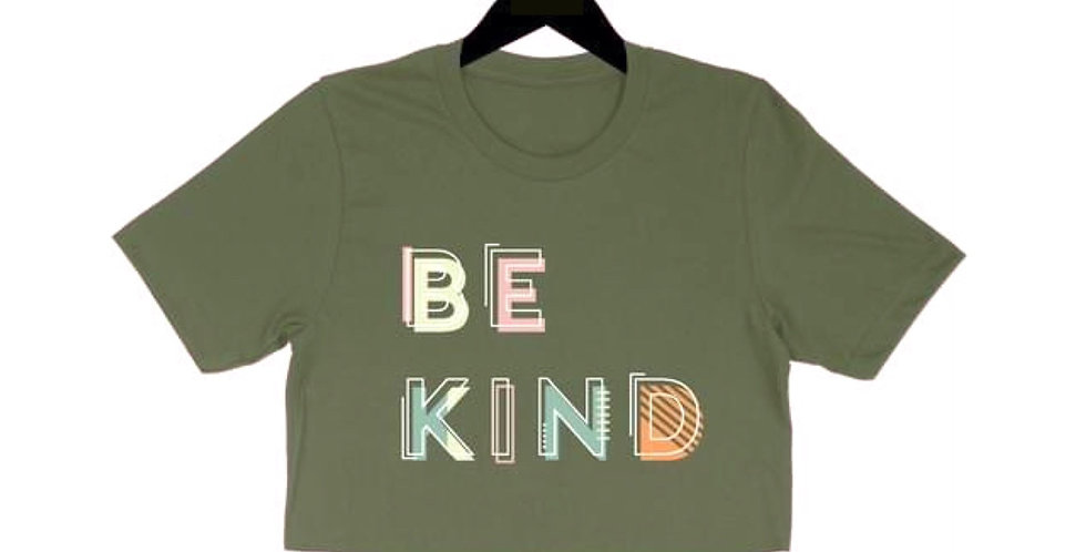 BE KIND crop tee