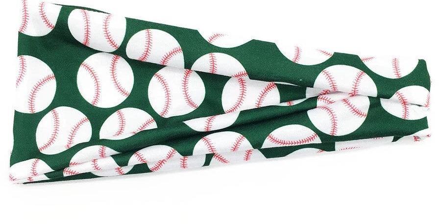 Baseball print green